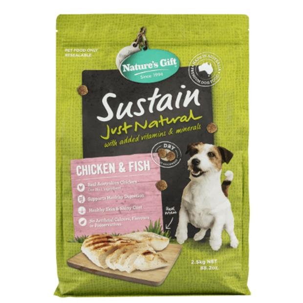 natures gift dry dog food adult sustain chicken and fish  6kg | Natures Gift dog food | pet supplies|...