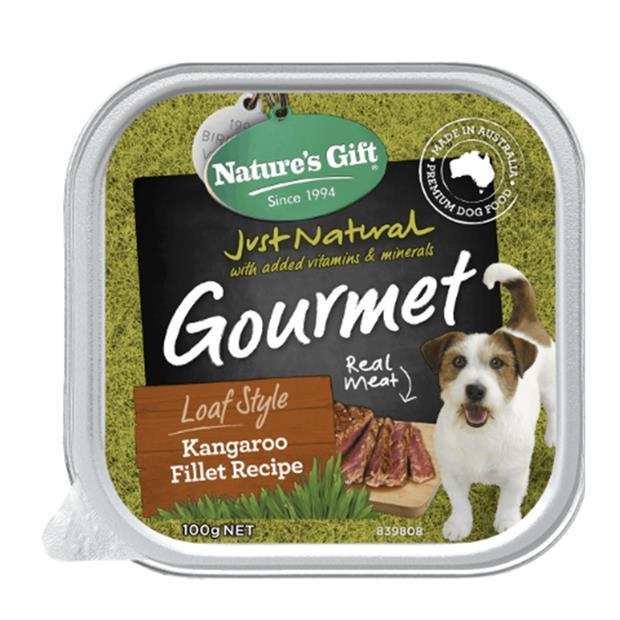 natures gift wet dog food adult kangaroo fillet  9 x 100g | Natures Gift dog food | pet supplies|...
