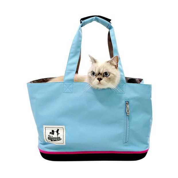 Ibiyaya Canvas Pet Carrier Tote for Pets up to 7kg - Sky Blue