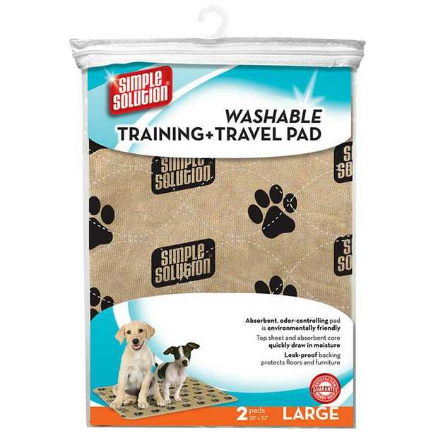 Simple Solution Washable Reusable Leak-Proof Training & Travel Wee Pad - 2 Pads