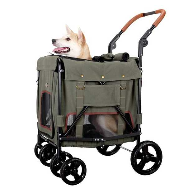 Ibiyaya Gentle Giant Dual Entry Easy-Folding Pet Wagon Stroller Pram for Dogs up to 25kg