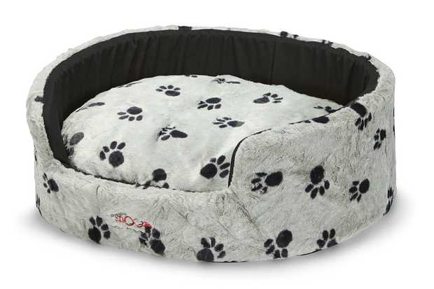 Snooza Buddy Bed Dog Bed - Plush Silver Paws - Large