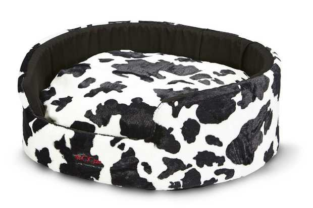 Snooza Buddy Bed Dog Bed - Cow Print - X-Large