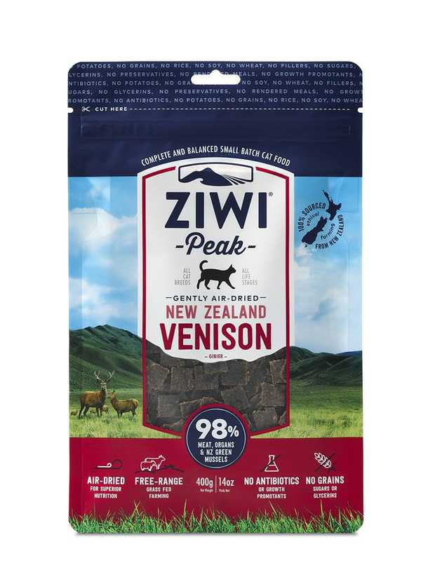 ZiwiPeak Air Dried Cat Food Vension 400g is a complete and balanced dry food for all breeds and life...