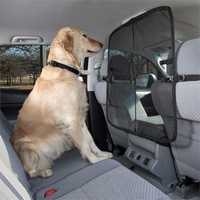 Solvit Car Protector Front to Back Seat Pet Net Barrier with Pouch