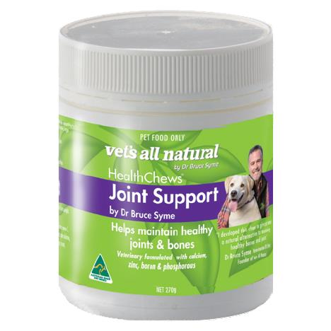 The Vets All Natural Health Chews Joint Support 270g is a healthy, natural supplement for your beloved...