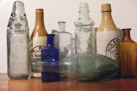 Ginger Beers, Marble/Codd, Crown seal Softdrinks, Jars