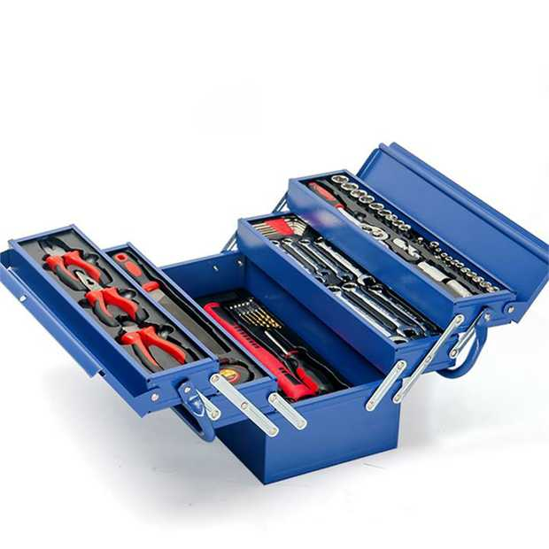 Have every odd-job and task around your home covered with the Bullet 118 Piece Cantilever Tool Box.
