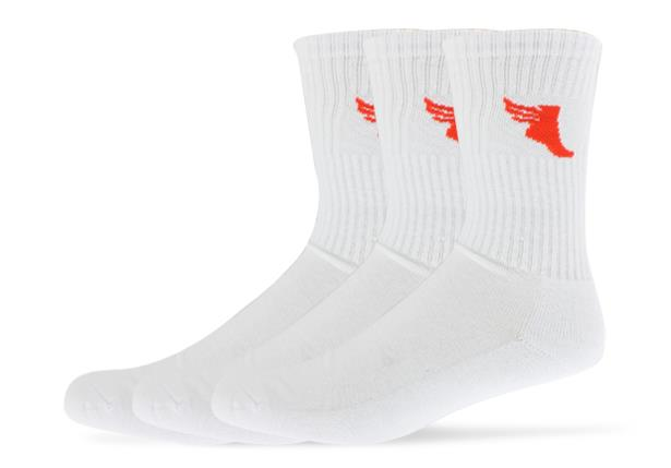 Compliment your new running or walking shoes with our branded socks in a sweat-wicking elastic cotton...