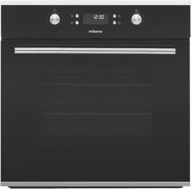 The Milano 60cm Electric Oven 538.01.171 features a black finish. Never worry about not having enough...