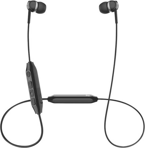 Black Sennheiser CX 350BT 508382s are in-ear headphones. They have a Bluetooth connection, so you can...
