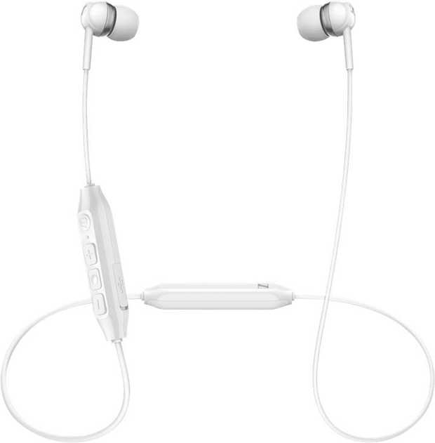 White Sennheiser CX 350BT White 508383s are in-ear headphones. They feature a Bluetooth connection...