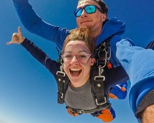 Get your heart racing with a 15,000ft tandem skydive over South Australias picturesque Lake...