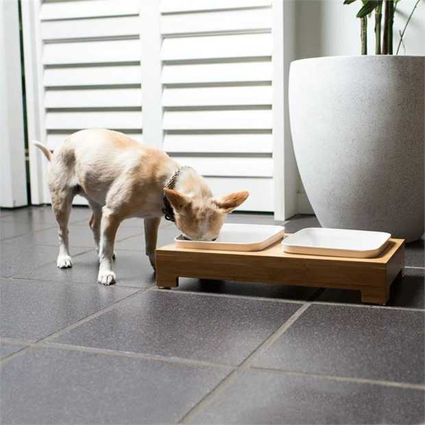 Mog & Bone Bamboo & Melamine Feeding Station