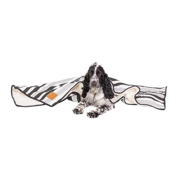 Mog & Bone Soft Reversible Pet Blanket Pebble Black Brush