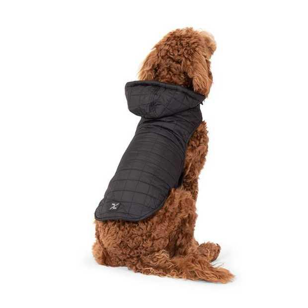 Mog & Bone Waterproof Puffer Dog Jacket Black - Small
