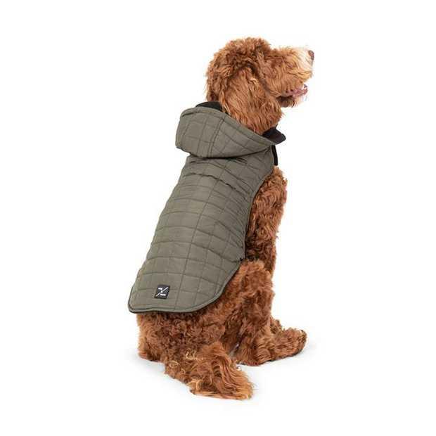 Mog & Bone Waterproof Puffer Dog Jacket Green 3XL/4XL