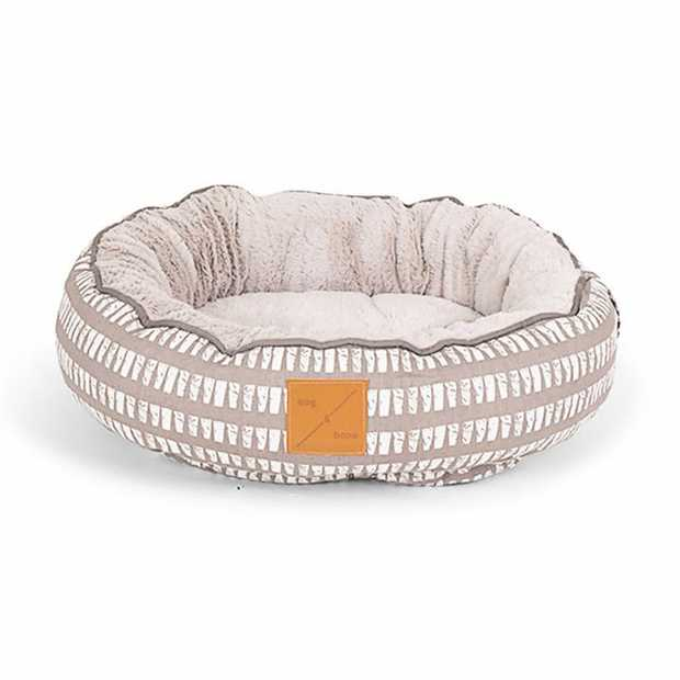 Mog & Bone 4 Seasons Reversible Dog Bed - Latte Mosaic - Large