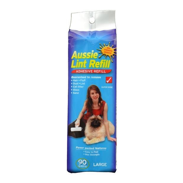 aussie lint refill  large | Aussie Lint Roller cat dog | pet supplies| Product Information:...