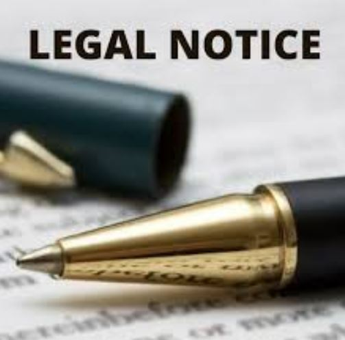 Notice of intended application for Letters of Administration