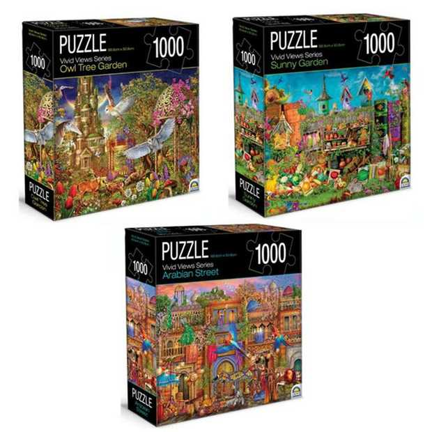 SELECTED AND SENT AT RANDOM  Featuring an array of vibrant images, these 1000 piece puzzles are...