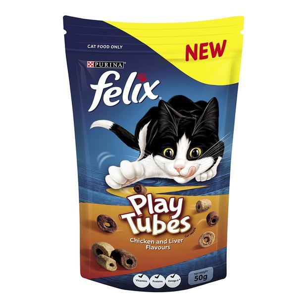 felix cat treats play tubes chicken and liver  50g | Felix cat treat&&litter; | pet supplies| Product...