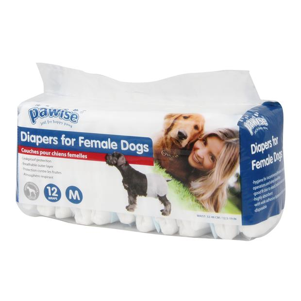 pawise disposable diapers 12 pack  large | Pawise dog | pet supplies| Product Information:...