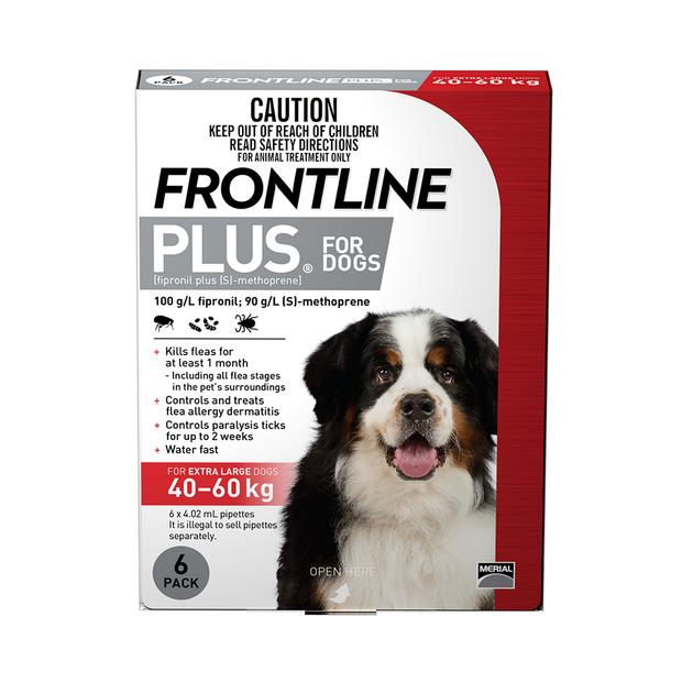 frontline plus extra large dog red  12 pack | Frontline dog Flea&Tick; Control | pet supplies| Product...