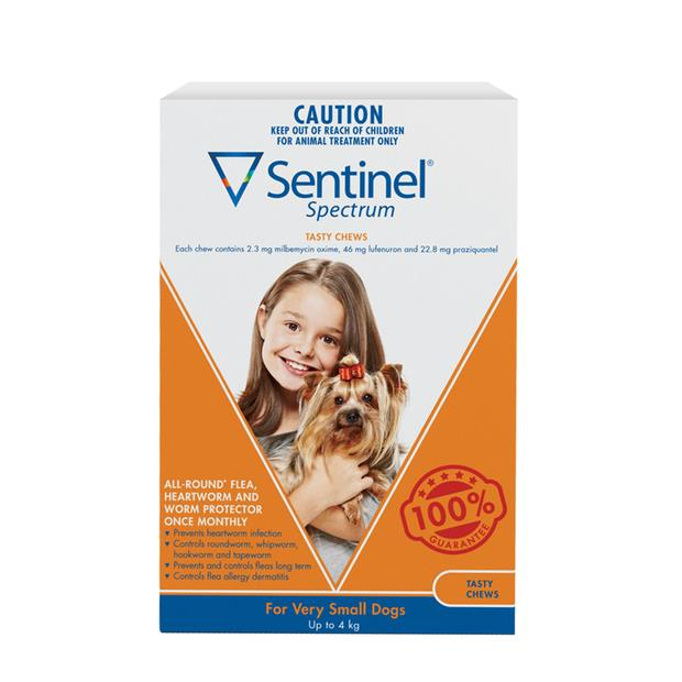 sentinel spectrum chews very small brown  12 pack | Sentinel dog Flea&Tick; Control | pet supplies|...