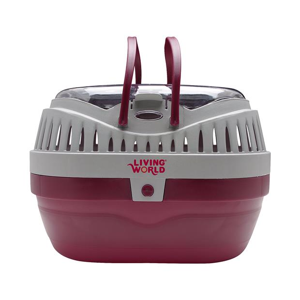 living world small animal carrier large burgundy grey  large | Living World | pet supplies| Product...