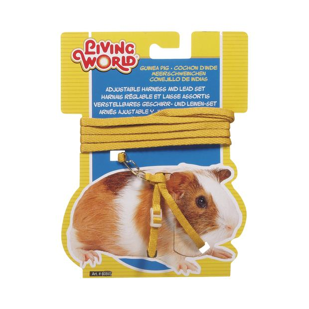 living world guinea pig harness lead set yellow  each | Living World | pet supplies| Product...