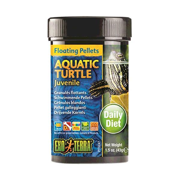 exo terra aquatic turtle food juvenile floating pellets  265gm | Exo Terra food | pet supplies| Product...