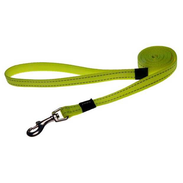 Rogz Utility Dog Leash with Reflective Stitching - Dayglow Yellow - XXL (Landing Strip)
