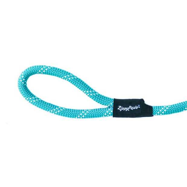 Zippy Paws Adventure Climbers Tough Rope Dog Leash - Teal 4 Feet