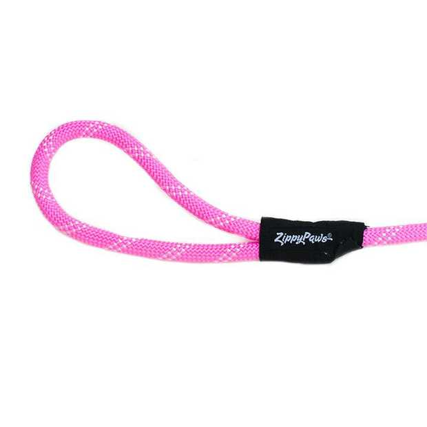 Zippy Paws Adventure Climbers Tough Rope Dog Leash - Neon Pink 6 Feet