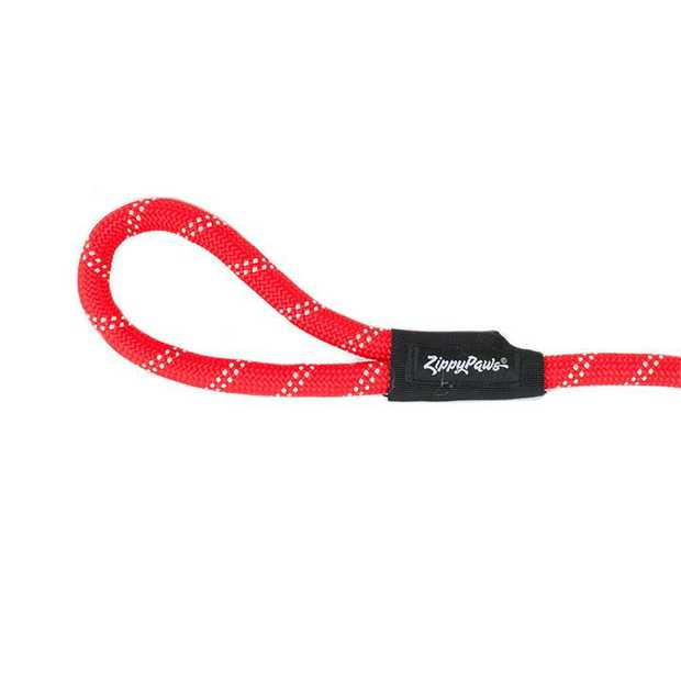 Zippy Paws Adventure Climbers Tough Rope Dog Leash - Red 6 Feet