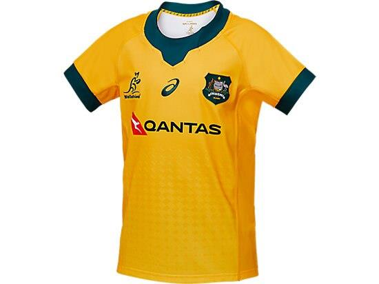 Get behind the boys in the official WALLABIES REPLICA HOME JERSEY. Made from 100% polyester fine gauge...