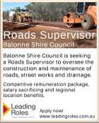 Roads Supervisor - Balonne Shire Counsil