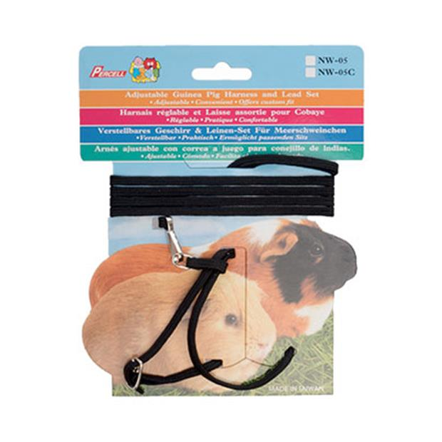 small animal care harness and lead set guinea pig black  each | Small Animal Care | pet supplies|...
