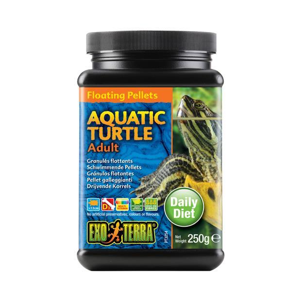 exo terra aquatic turtle food adult floating pellets  260gm | Exo Terra food | pet supplies| Product...