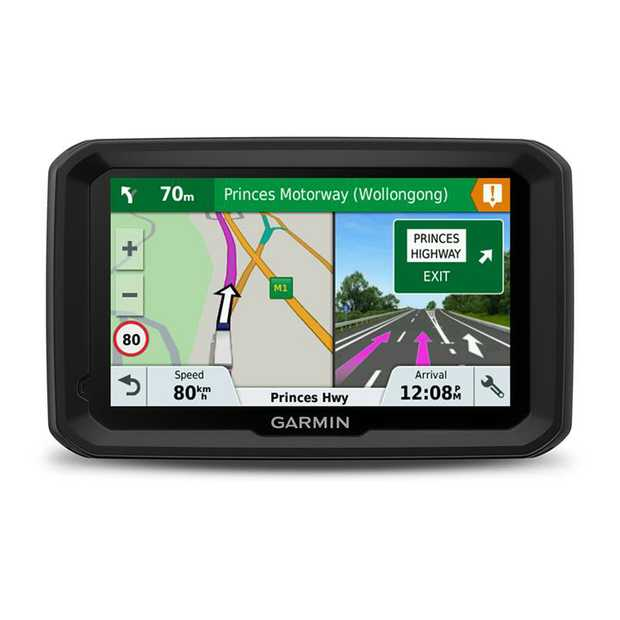 "5"" WQVGA Color TFT display Maps of Australia and New Zealand Customized truck routing Upcoming bridge..."