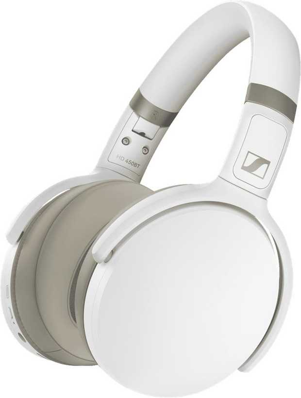 White Sennheiser HD 450BT White 508387s are over-the-ear headphones. Connect without wires with their...
