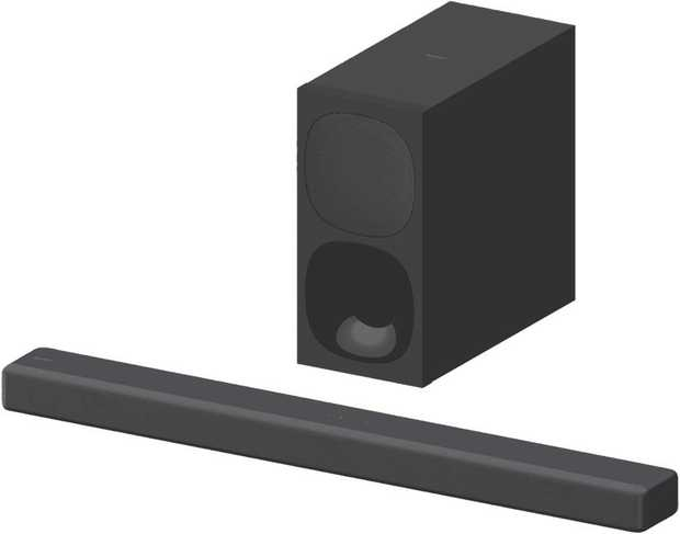 This black Sony 3.1ch Dolby Atmos Soundbar HTG700 features a Vertical Surround Engine that reduces...