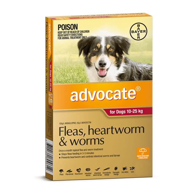 advocate dog large red  6 pack | Advocate dog Flea&Tick; Control | pet supplies| Product Information:...
