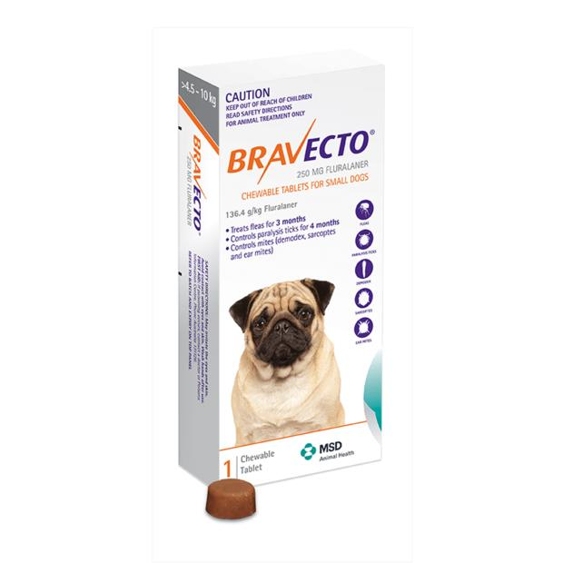 bravecto small dog orange  4 pack | Bravecto dog Flea&Tick; Control | pet supplies| Product Information:...