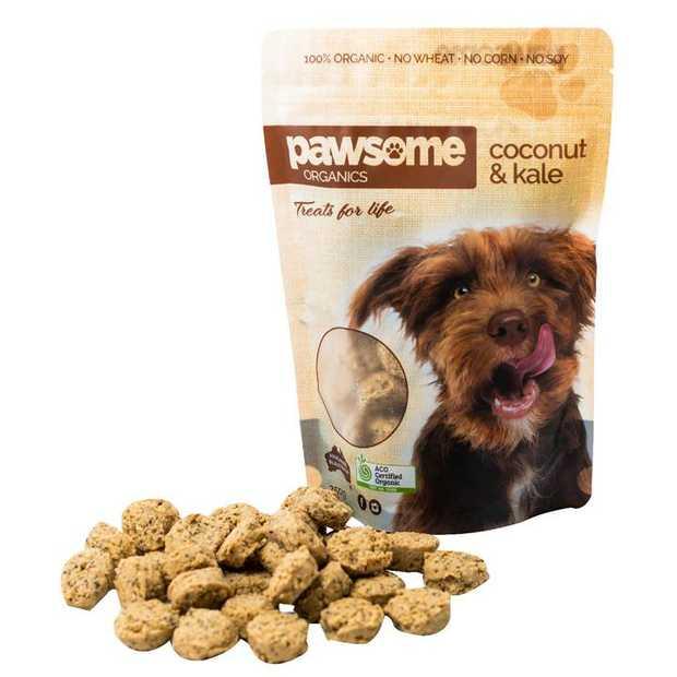 Pawsome Organics Coconut and Kale Certified Organic Dog Treats 200g