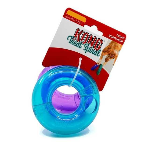 KONG Treat Spiral Ring Treat Dispensing Interactive Dog Toy - Large