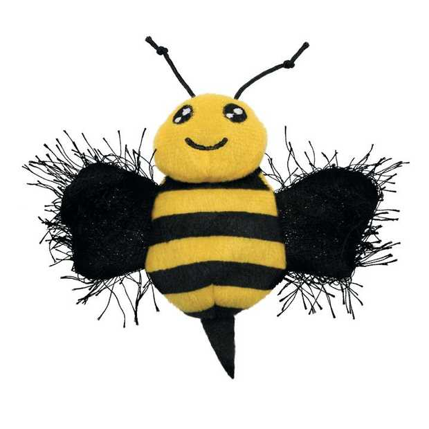KONG Better Buzz Bee Mesh & Crackle Plush Cat Toy