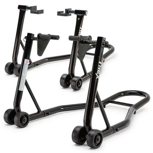 With your T-REXTM motorcycle front and rear stands you'll easily raise your bike off the ground to get...