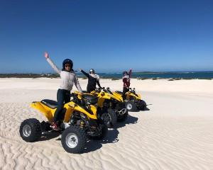 This 60 minute dune buggy tour of Perths Lancelin Sand Dunes is seriously fun. Jump in the drivers seat...